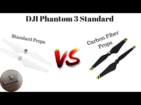 DJI Phantom 3 Standard - Carbon Fiber Propellers vs. Standard Propellers