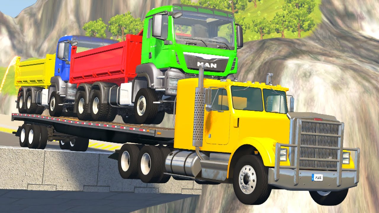 Loaded Truck Crashes #1 - BeamNG Drive | Crashes Plus