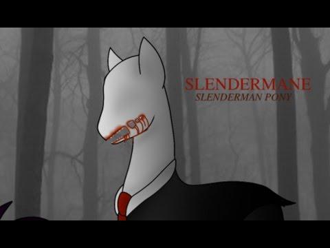[13+] Slenderman Pony Speedpaint
