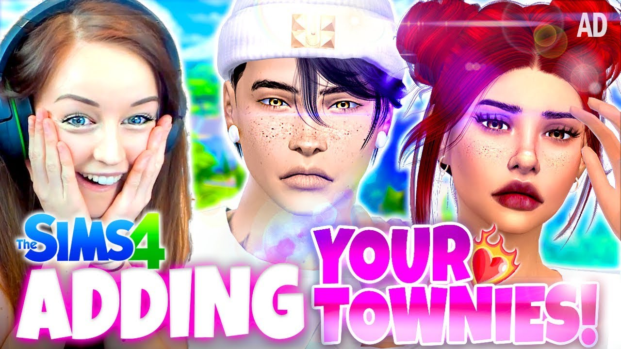 Adding *YOUR TOWNIES* as LOVE INTERESTS! ❤️ - Sims 4 CAS Challenge!