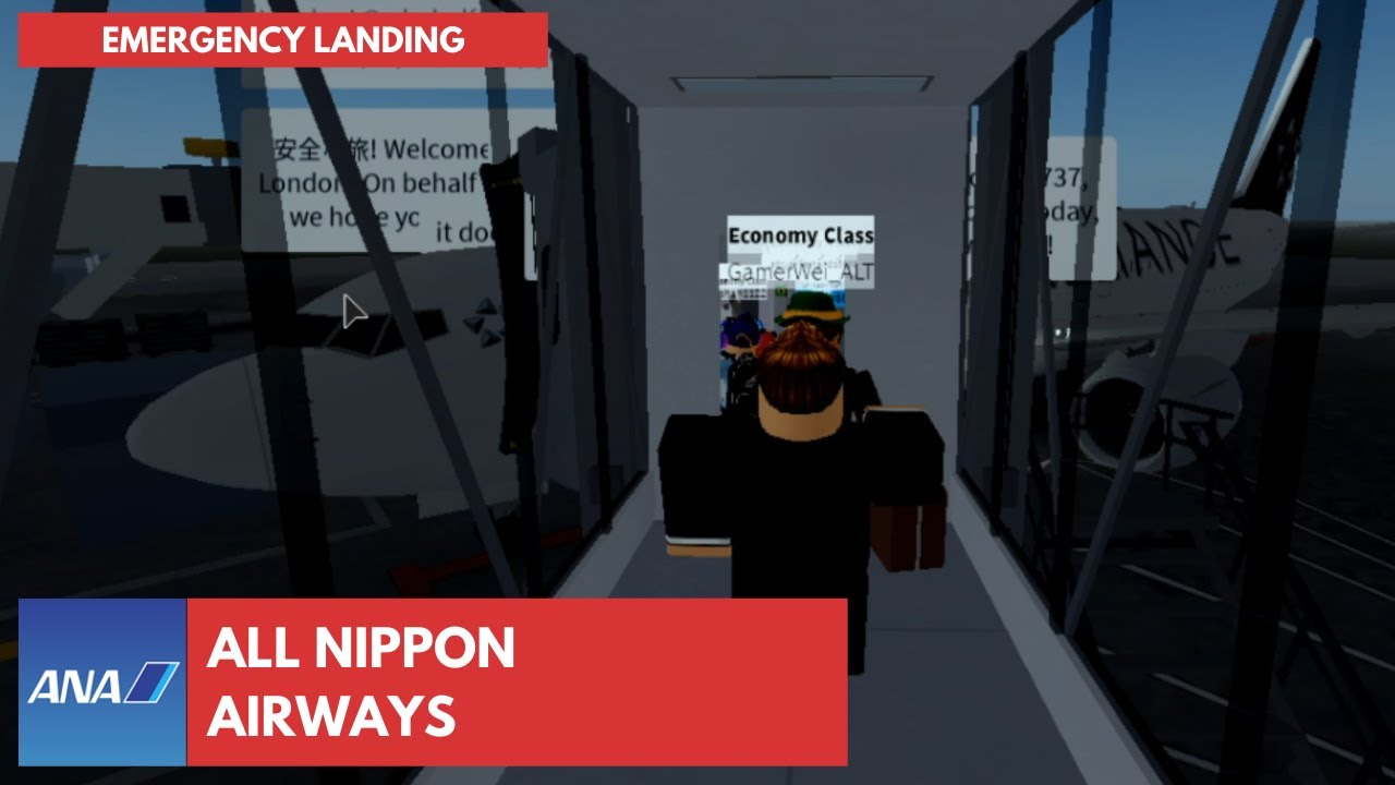 ✈️ ROBLOX   All Nippon Airways   B737 Emergency Flight (Economy Class)