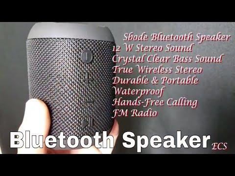 Sbode Bluetooth Speaker 12 W Stereo Sound & FM Radio 2018   Great For Inside/Outside Use