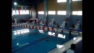 1 Mart 2014 100 m kelebek bayanlar yüzme yarışı İstanbul birincisi Filiz Alpan,en iyi derece