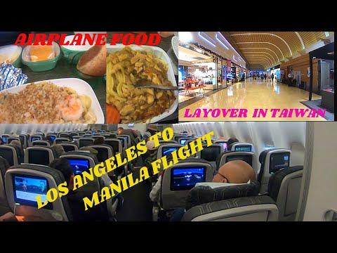 Eva Air Flight Review   Los Angeles To Manila Flight Via Eva Airlines   Travel Vlog #22