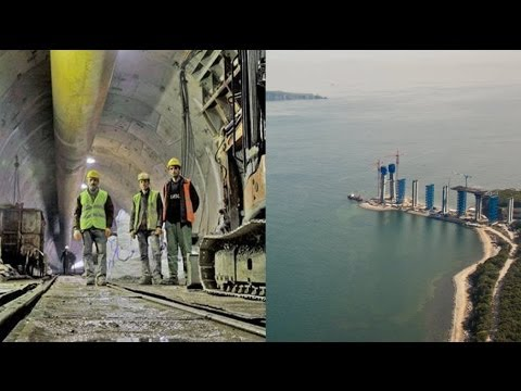 Bosphorus rail tunnel links Europe and Asia in Istanbul