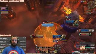 Bajheera - DEATH WISH IS HILARIOUS IN 2v2 (+50% DMG) - WoW 7.1.5 Fury Warrior PvP