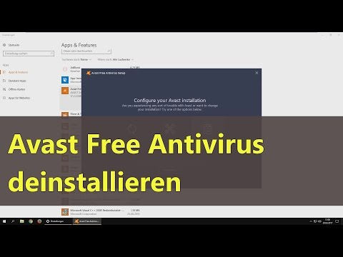Avast Free Antivirus deinstallieren