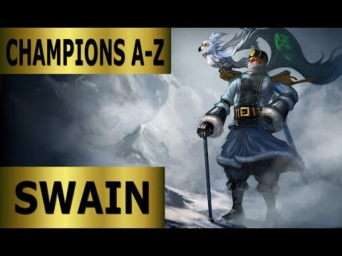 Champions A-Z #092 Swain Top Lane Guide - Full Gameplay [German] League of Legends by DPoR