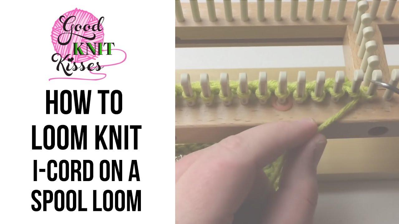 Loom Knit: i Cord on a Spool Loom - YouTube