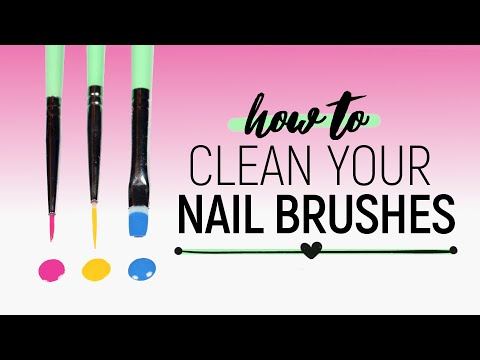 The Best Way to Clean Your Nail Art Brushes!