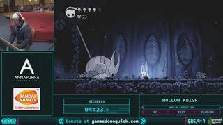 Hollow Knight by Mickely3 in 38:28 AGDQ 2018