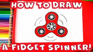 How to Draw a Fidget Spinner Step by Step