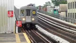 BMT Astoria Line: R68 Q Train at 39th-Beebe Ave-31st St (PM Rush Hour)
