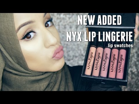 Swatches   NYX Lip Lingerie - New Added Shades on Dark Lips/Olive Skin
