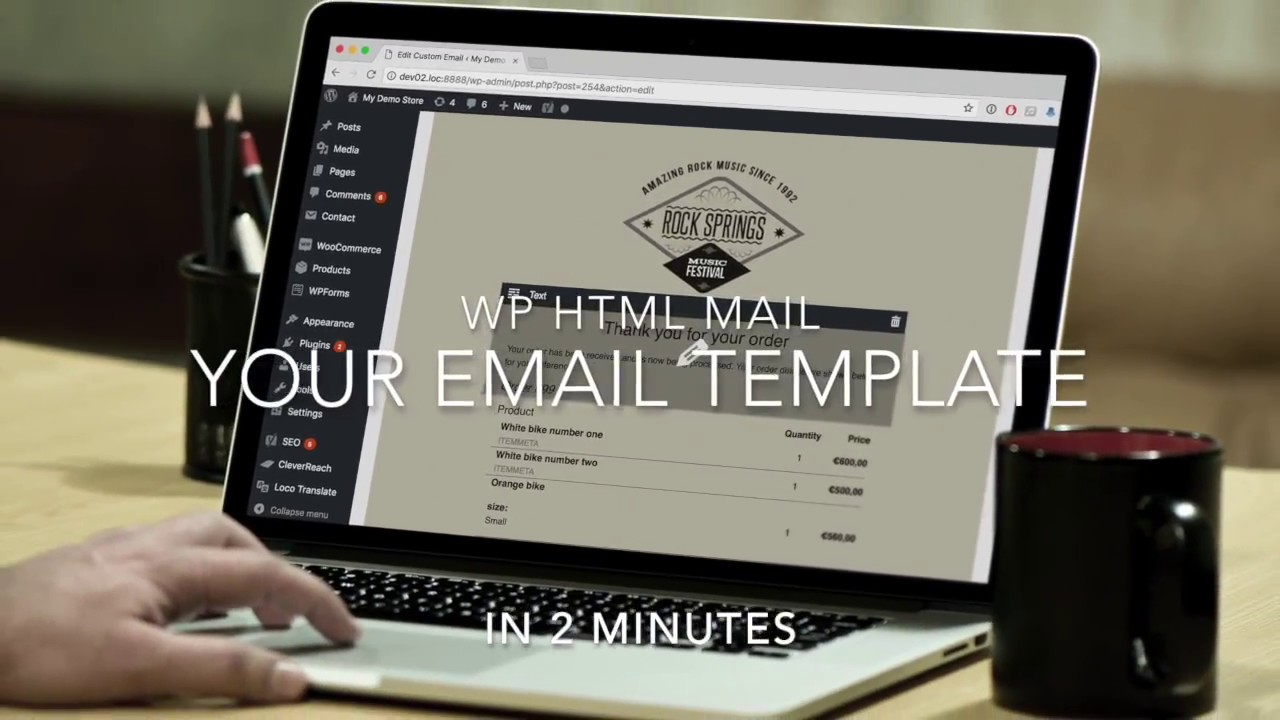 Create a WordPress email Template in 2 minutes - YouTube
