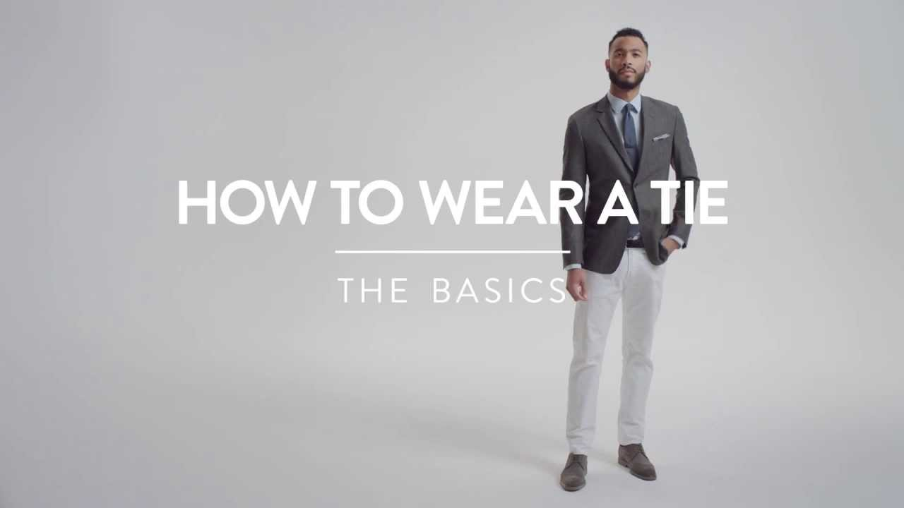 How to wear a tie the basics nordstrom mens shop youtube ccuart Images