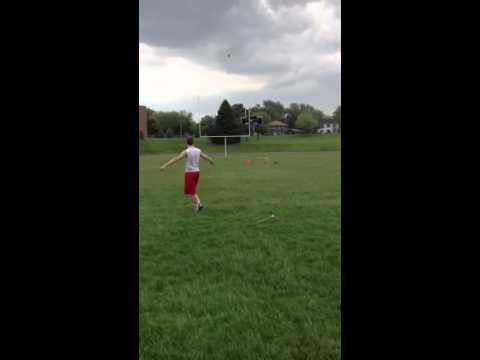 Nick Candre 60 yard field goal. St charles East high school kicker (sophomore)