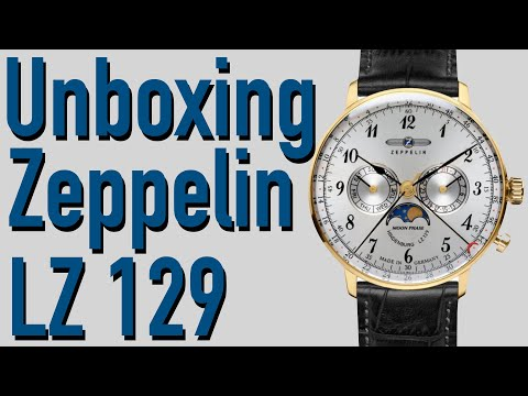 Unboxing & First Look Zeppelin LZ 129 Hindenburg Moon Phase Watch 7038-1