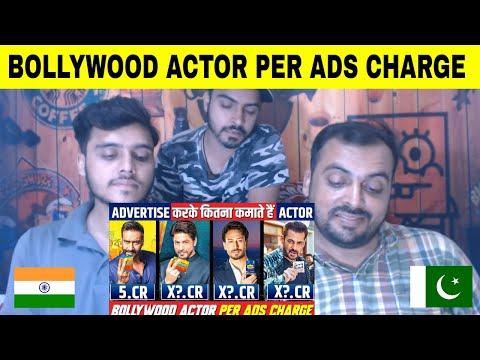 Pakistani Reaction Top 10 Bollywood Actors Per Ads Fees Charge, Salman Khan, Aamir, Akshay, Shahrukh