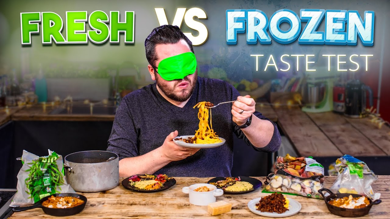Download Blind Tasting FRESH vs FROZEN Ingredients | Where Best to Spend Your Money? | SORTEDfood