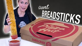 We made GIANT BREADSTICKS 🍕// Pizza Hut Style