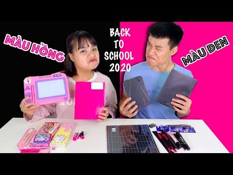 Đại Chiến Đồ Dùng Học Tập Màu Hồng Vs Màu Đen(Black Pink) - Back To School 2020