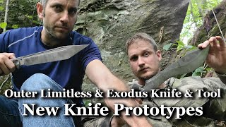 New Knife Prototypes from Outer Limitless and Exodus Knife and Tool!