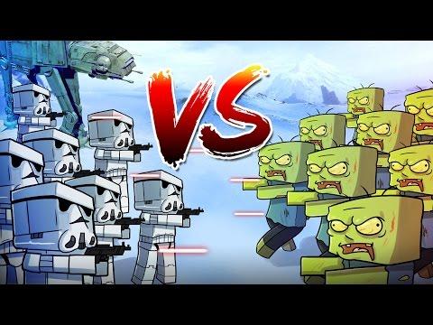 Minecraft | 1000 Zombies vs 350 Storm Troopers! (Star Wars Massive Mob Battles)