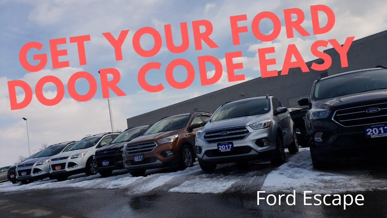 Ford Keyless Entry Code Hack >> Get Your Ford Factory Door Code Easy With This Ford Hack