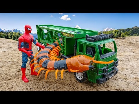 Car cars, giant centipede and spider man B381V - Toys for kids
