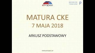 Matura z matematyki MAJ 2018 - poziom podstawowy