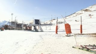 In the Alps, artificial snow saves the holiday ski season