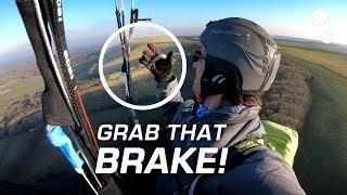 Paraglider Control: Grab that brake!