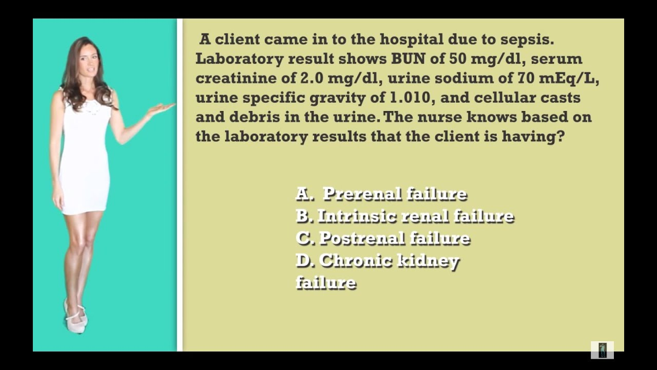 Nclex Question Based On These Lab Values Where Is The Kidney Failure Originating From Youtube