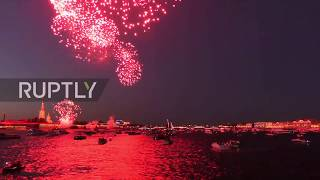 Russia: Navy Day celebrations draw to a close with spectacular fireworks display