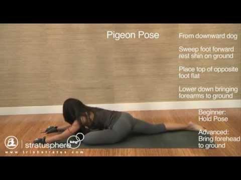 stratusphere yoga dvd  pigeon pose  youtube