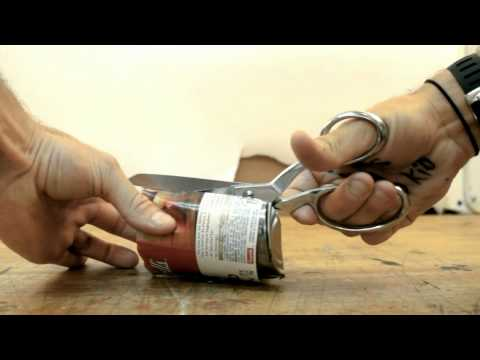 soup can switchblade by Casey Neistat