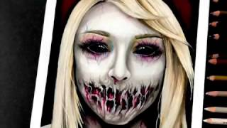 Time lapse drawing: Scary girl (Halloween 2016)