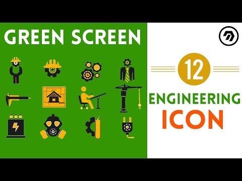 12 Green Screen Engineering Icon | mrstheboss