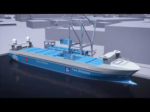The world's first autonomous, zero emission container feeder