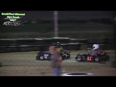 Dallas County Raceway Go Kart Racing Box Stock A Features Race 1 and 2 August 1, 2017