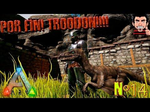 ARK Survival Evolved Por fin Capturamos TROODON ! como domesticar un troodon gameplay español