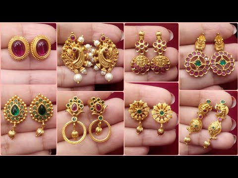 Simple Daily Wear 1Gram Gold Stud Earrings UNDER Rs500 |High Quality 1 Gram Jewellery