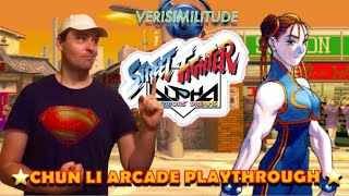 STREET FIGHTER ALPHA WARRIORS DREAMS: CHUN LI ARCADE PLAYTHROUGH
