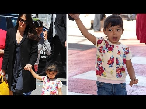 Aishwarya Rai Bachchan & Daughter Aaradhya Bachchan RETURN From Cannes 2014