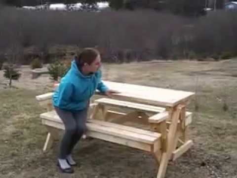 Table De Pique Nique Transformable En Banc Youtube