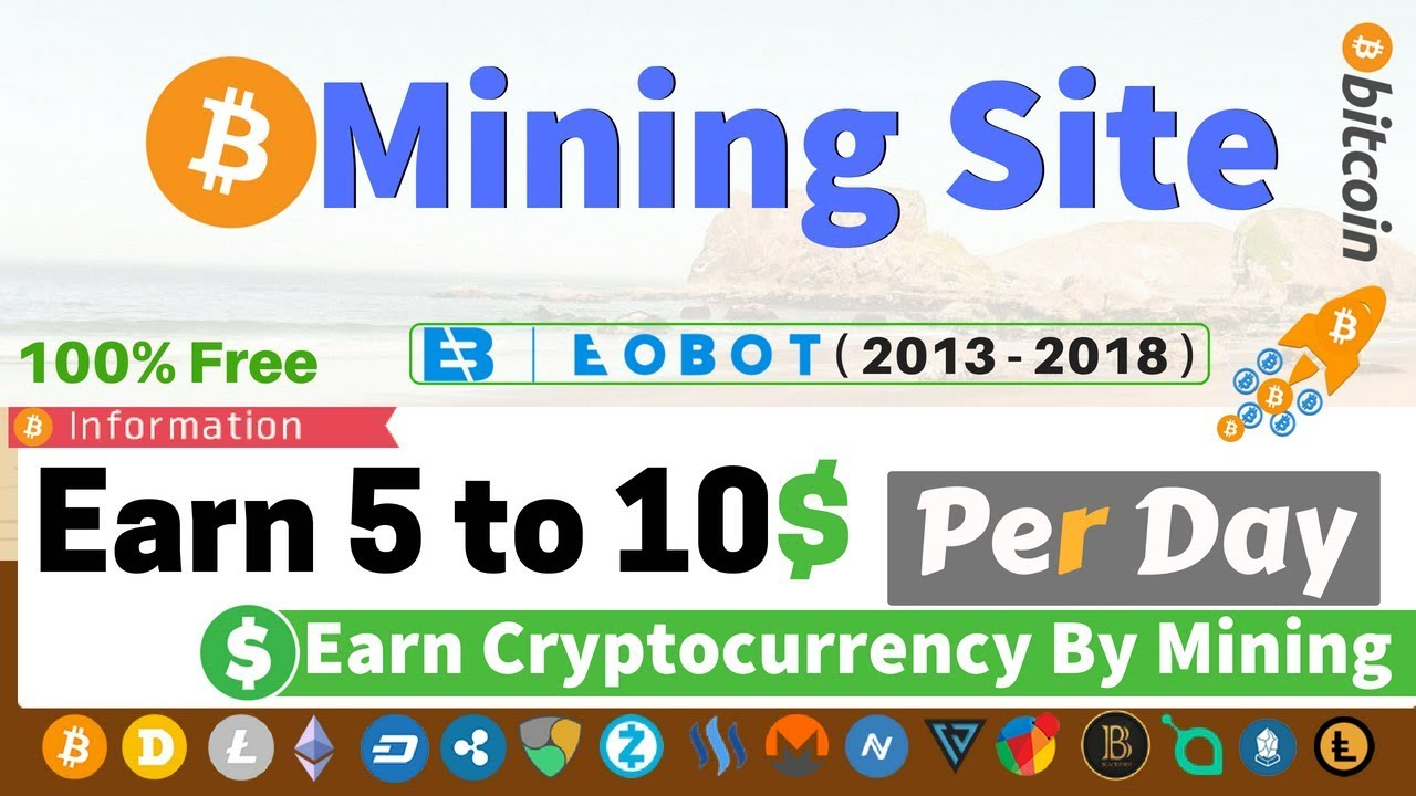 Earn Bitcoin By Mining FREE (GHS) - EOBOT Mining for any