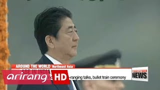 Japanese PM in India for talks on North Korea, bullet train