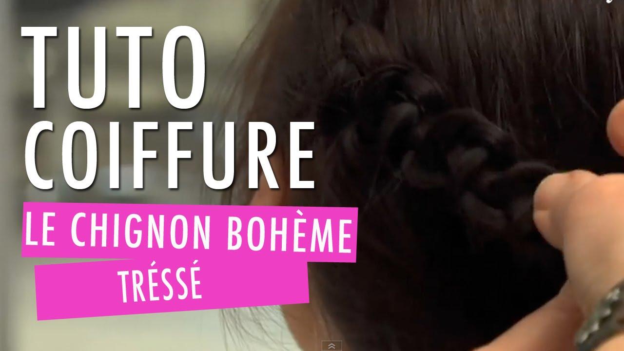 chignon boh me tress tuto coiffure youtube. Black Bedroom Furniture Sets. Home Design Ideas