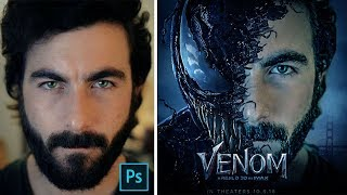 How to edit Like Venom Movie poster design   Photoshop Manipulation editing tutorial